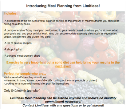 Limitless Meal Planning